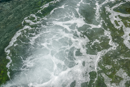 foaming: full frame natural spumous water background Stock Photo
