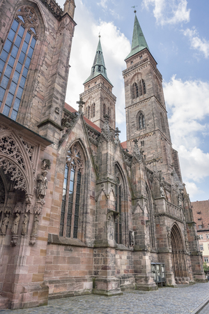 st german: St Sebaldus church Nuremberg, a city in Franconia in the german state of Bavaria