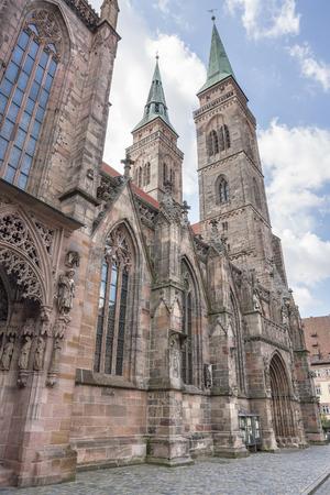 st german: St Sebaldus church Nuremberg, a city in Franconia in the german state of Bavaria