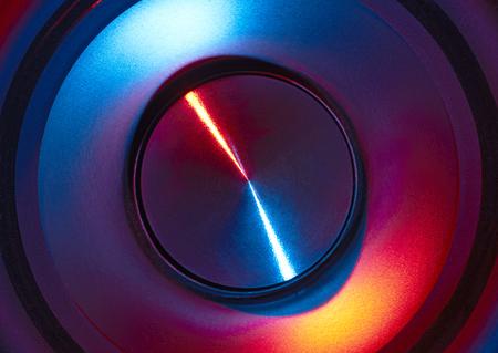 full frame abstract colorful loudspeaker detail