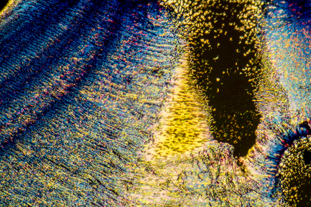 편광 화려한 미세을 보여주는 현미경 샷 스톡 콘텐츠