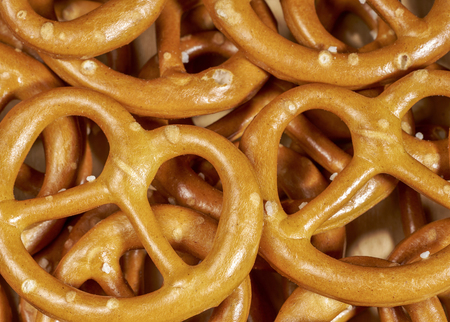 ailment: full frame macro shot of some lye pretzels