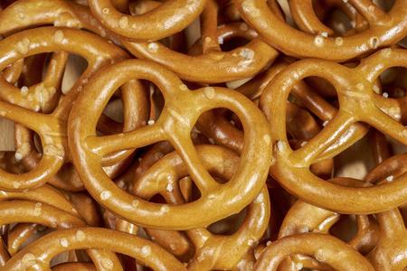 full frame macro shot of some lye pretzels