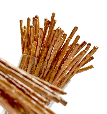 pretzel stick: closeup of some salt sticks in light back