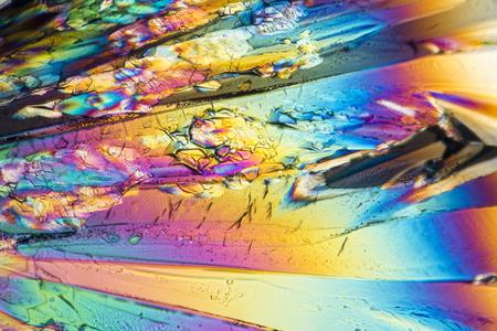 カラフルな微小結晶偏光のリキュール 写真素材