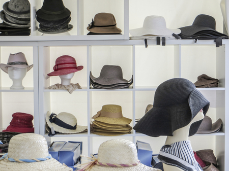 lots of various hats Stock Photo