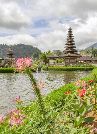 Water temple named Pura Ulun Danu Bratan at Bali, Indonesia