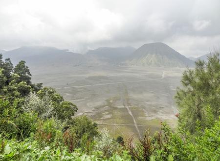 Scenery around Bromo Tengger Semeru National Park in Java, a island of Indonesia