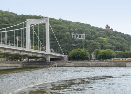 the Elisabeth Bridge across the river Danube in Budapest, hungary Stock Photo