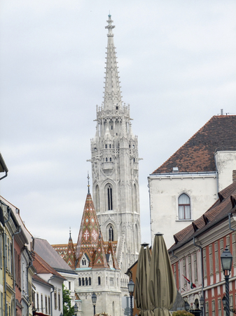 The Matthias church in Budapest, the capital city of ungary