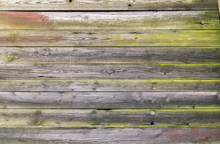 full frame background showing rundown wooden planks Stock Photo