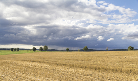 clouded sky in rural agricultural ambiance