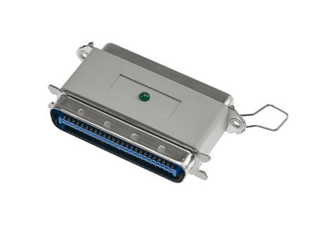 SCSI plug isolated in white back Stock Photo