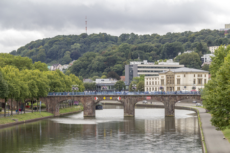 city view of Saarbruecken, the capital city of the Saarland in Germany