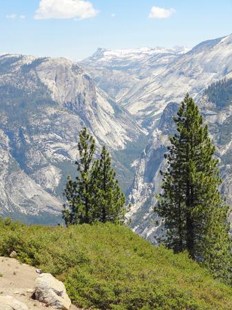 idyllic view at the Yosemite National Park in California, USA Stock Photo