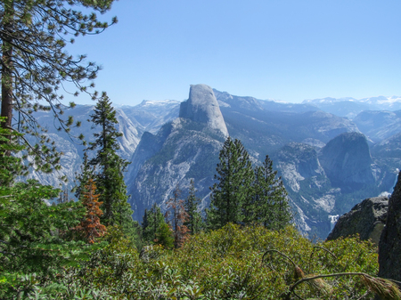 idyllic panoramic view at the Yosemite National Park in California, USA Stock Photo