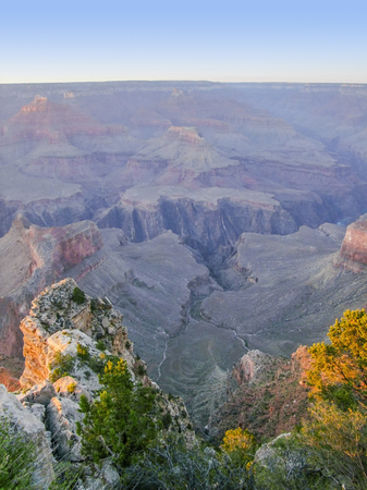 colorful evening scenery at the Grand Canyon National Park in Arizona, USA