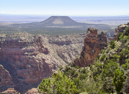 sunny aerial view at the Grand Canyon National Park in Arizona, USA Stock Photo