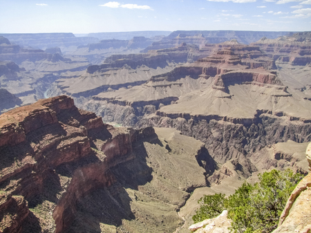 sunny scenery at the Grand Canyon National Park in Arizona, USA Stock Photo