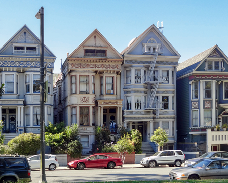 city view of San Francisco, a city in California, USA 스톡 콘텐츠