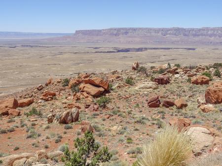 rocky scenery near the Grand Canyon National Park in Arizona, USA Stock Photo