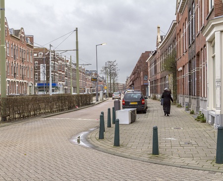 street view of  Rotterdam, a city in the Netherlands