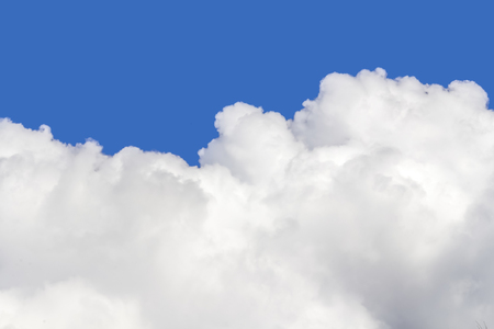 blue sky and the detail of a big white cloud