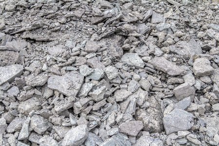 full frame background showing lots of grey broken stones