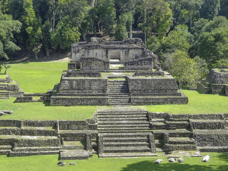 ancient Maya archaeological site named Caracol located in Belize in Central America Stock Photo