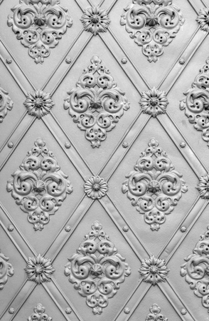 full frame ornamented silver metallic background Фото со стока