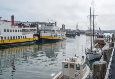 Harbor scenery in Portland, a city in Maine, USA Stock Photo