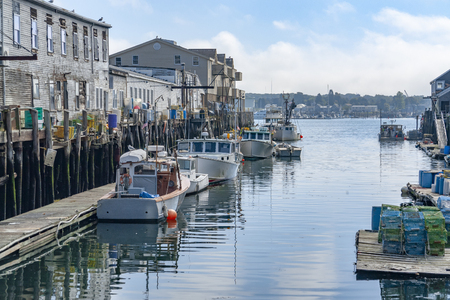 Harbor scenery in Portland, a city in Maine, USA Stockfoto