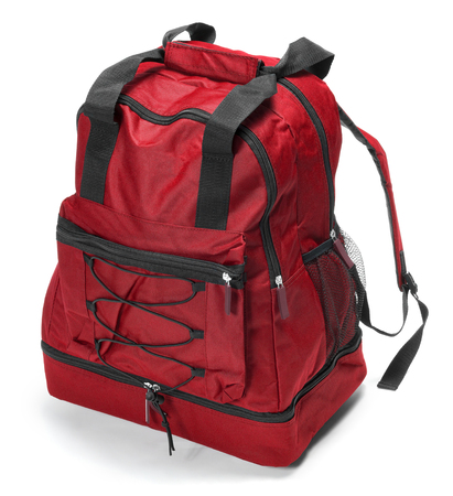 Red backpack Stock Photo