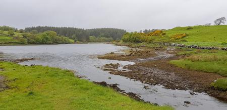 Idyllic waterside scenery in Connemara, a region in County Galway in Ireland Standard-Bild - 115382065