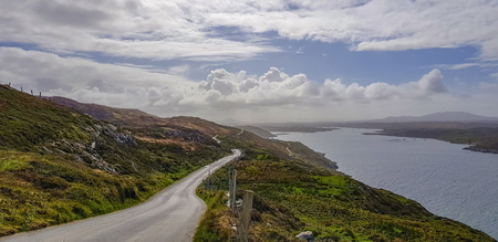 Idyllic coastal scenery around Sky Road in Connemara, a region in western Ireland Standard-Bild - 115382072