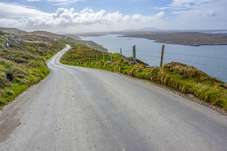 Idyllic coastal scenery around Sky Road in Connemara, a region in western Ireland Standard-Bild - 115382020