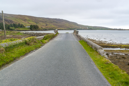 Idyllic coastal scenery around Sky Road in Connemara, a region in western Ireland Standard-Bild - 115382026