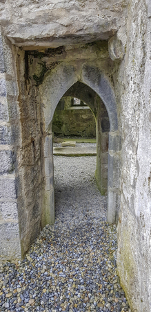 Historic gate in a chapel seen in Ireland Standard-Bild - 115381922