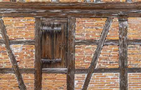 Detail of a historic rural house facade seen in Southern Germany Standard-Bild - 115381831