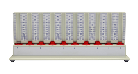 Special rack for Erythrocyte sedimentation rate isolated in white back