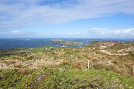 Idyllic coastal scenery around Sky Road in Connemara, a region in western Ireland Zdjęcie Seryjne