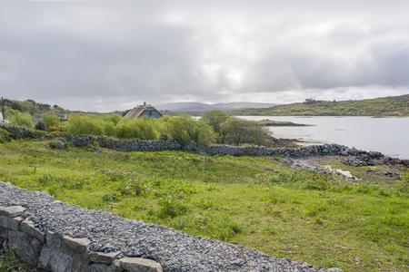 Waterside scenery around in Connemara, a district in Ireland