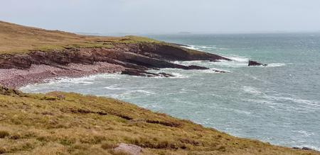 Idyllic coastal scenery around Connemara, a region in western Ireland 版權商用圖片