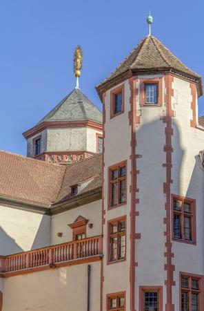 idyllic detail of the Marienberg Fortress near Wuerzburg in Franconia, a bavarian area in Germany Archivio Fotografico