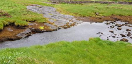Sunny wetland scenery in Connemara, a area in Ireland