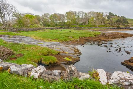 Wetland scenery in Connemara, a area in Ireland Imagens