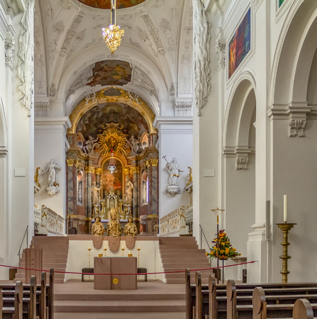 Interior of the Neumuenster Collegiate church in Wuerzburg, a franconian city in Bavaria Banque d'images - 118091685