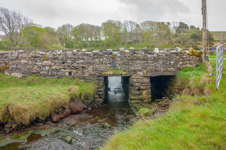 Bridge and rivulet seen in in Connemara, a area in Ireland