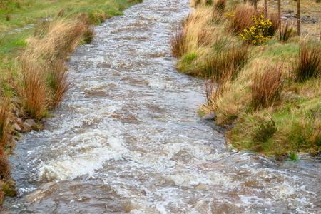 Riparian scenery in Connemara, a area in Ireland Stok Fotoğraf