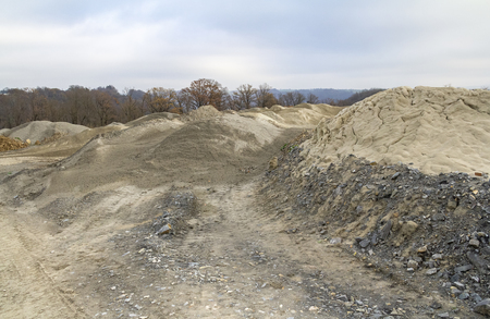 Spoil heap scenery at a quarry in Southern Germany